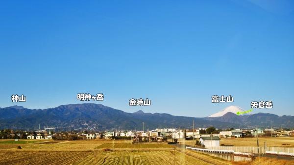 登った箱根の山々が一望できるなんて・・・。