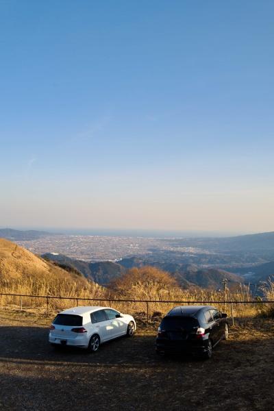 大野山駐車場。ここからさらに歩いて登るよ。