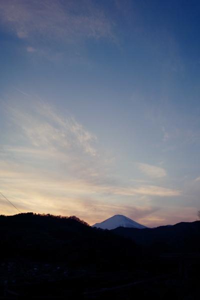 日が没したね。