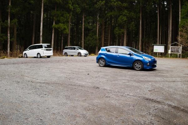 愛鷹山の駐車場