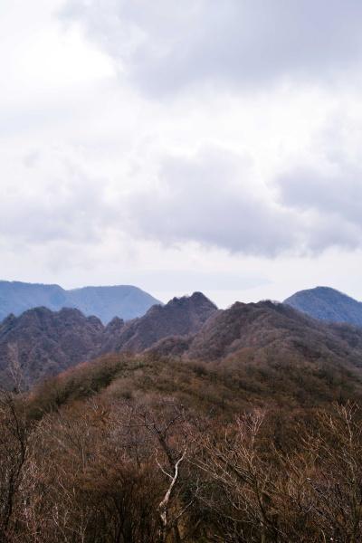 眼の高さにある鋸岳。