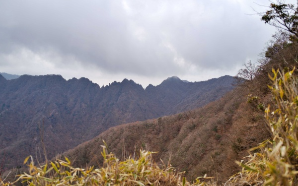 ギザギザフェイスの鋸岳だ。