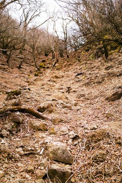 スリリングな鋸岳への登山道