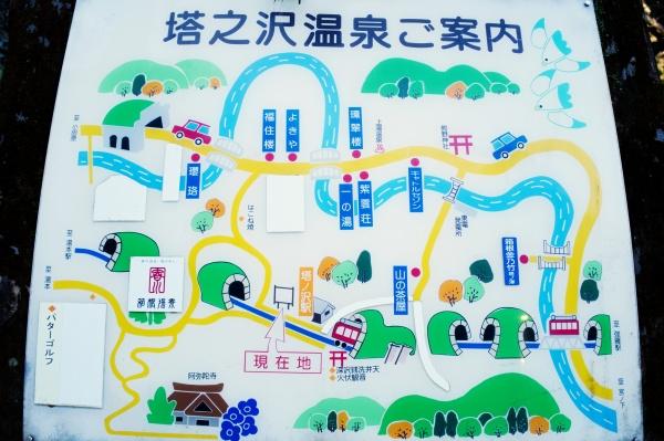 塔ノ沢温泉のMAP