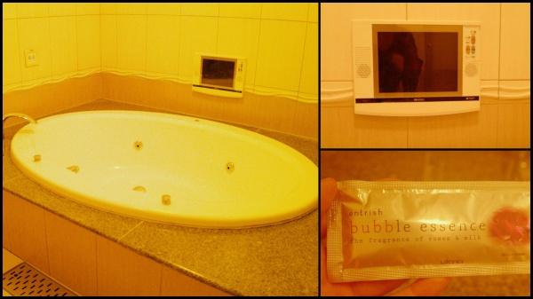 ジャグジーとテレビ。バブルソープを入れてみる。