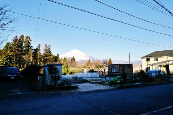 富士山が見える入口。