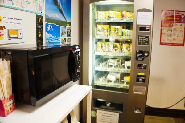 レンジと軽食自販機