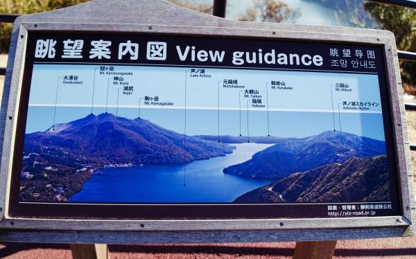芦ノ湖を一望できる