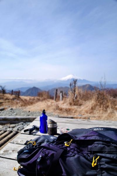念願の蛭ヶ岳で昼飯!