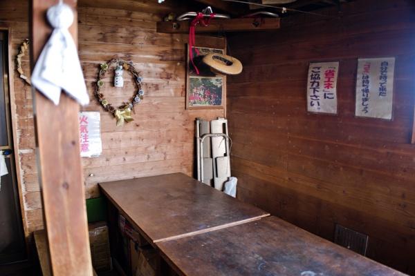 休憩スペース。ヒルカレーは1000円でした。