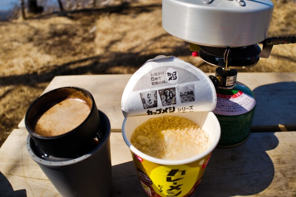 ドリップコーヒーとカレーメシ!