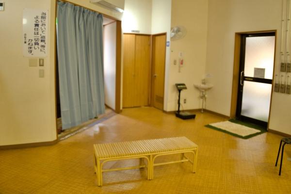 更衣室もきれいです。※誰も人がいないときに撮ってます。