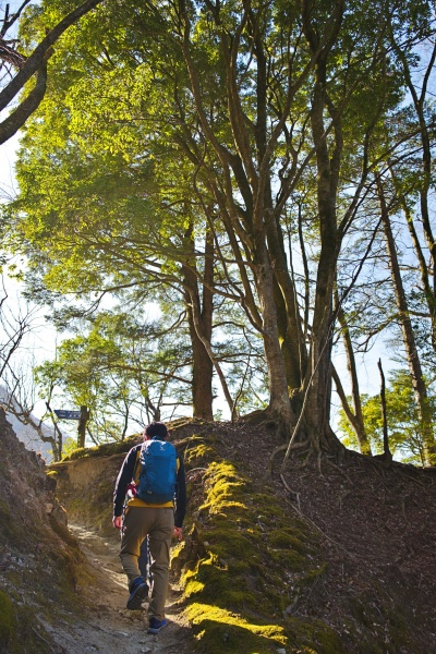 登山者は塔ノ岳と比べるとかなり少なかった。