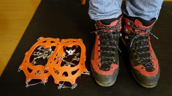 26.5㎝の登山靴でぴったりでした。