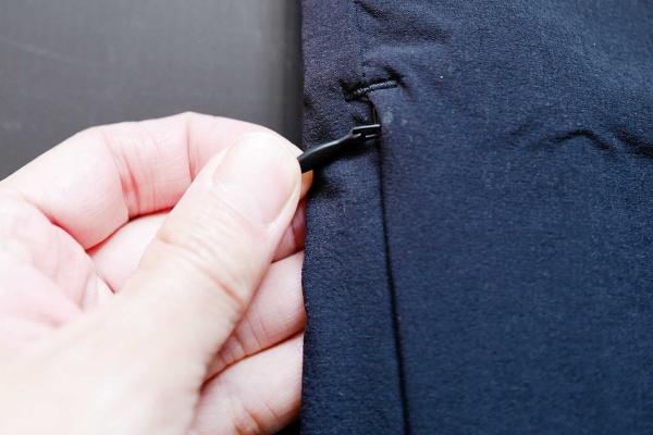 右足部分のポケット。