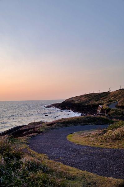 伊豆大島の海岸線も絵になるなぁ。