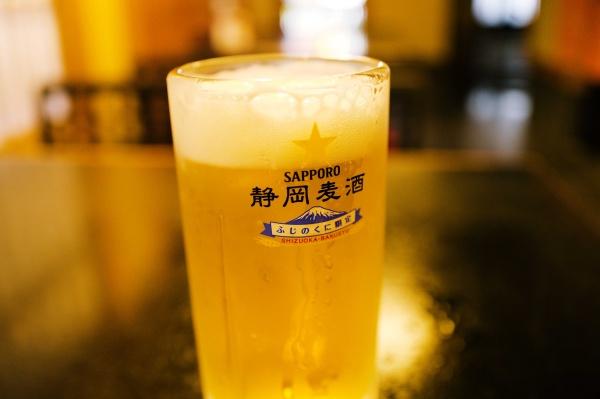 登山後のビール最高。