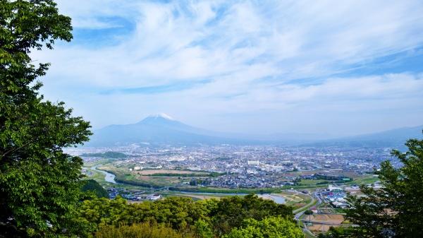 富士山に向かう縦走ルート。