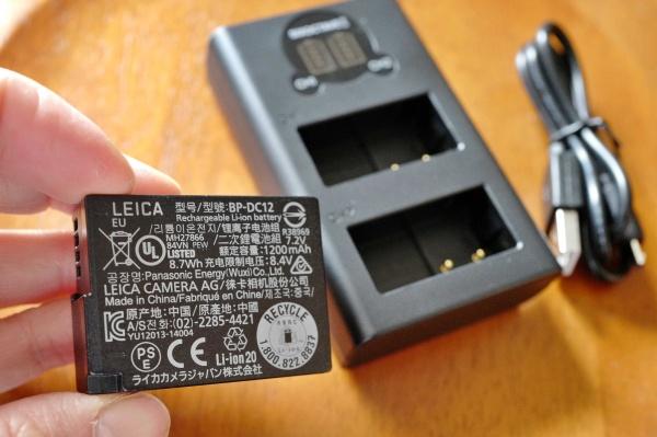ライカの純正バッテリー。