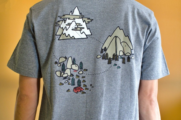 山の絵がテンション上がるね。