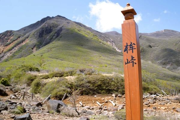 鉾立峠。後ろの山を下ってきた。