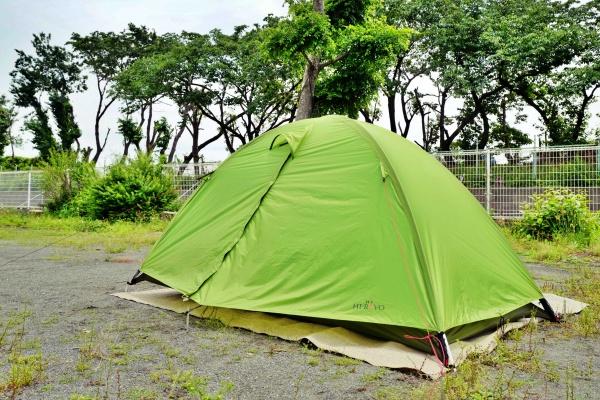 縦走登山で2回使用したテント。見た目もクール!