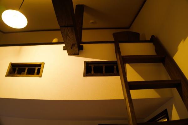 ロフトの部屋。