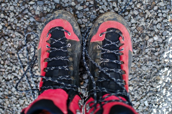 九州遠征1日目。SALEWAの登山靴。