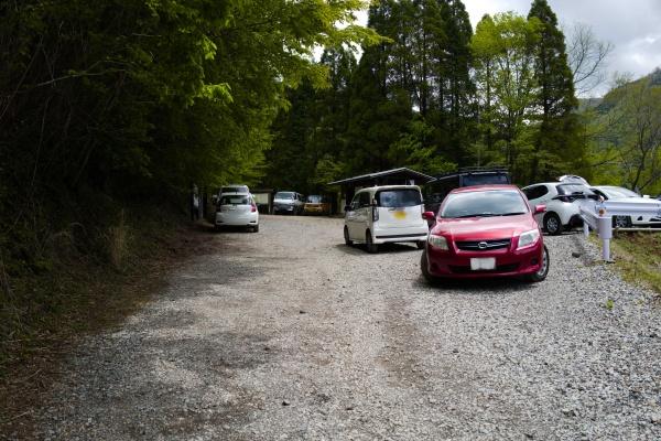 北谷登山口前も路上駐車できそうだった