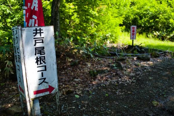 井戸尾根コースへ