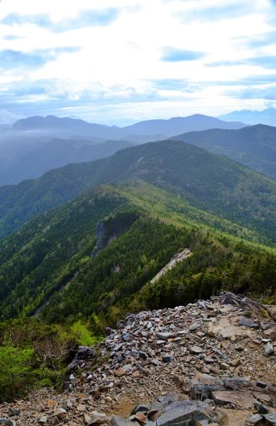 国師ヶ岳~金峰山のルート