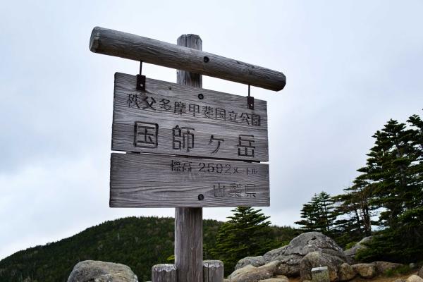 国師ヶ岳(標高2592m)山梨100名山だ。