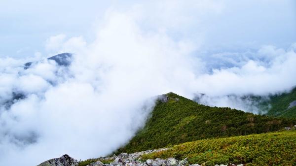 いい形の雲海です。