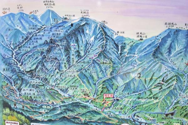 甲武信岳エリアのマップ