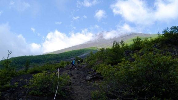 富士山が見えてきた。