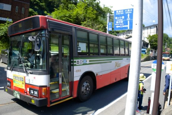 上毛高原雪のバスに乗り、沼田駅で降りました。