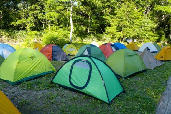 たくさんのテントが集合!