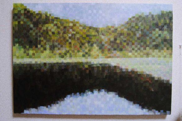 浅湖湿原を油彩で描いてみた。
