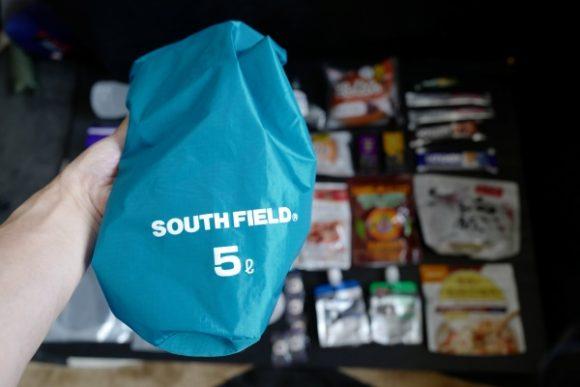 食料は5Lのスタッフバッグにまとめた。