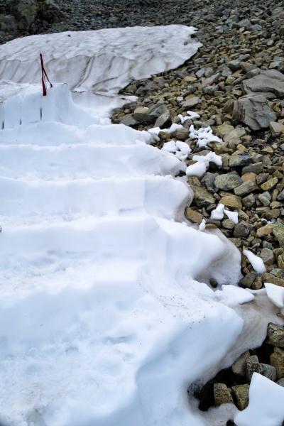 シャーベット状の階段