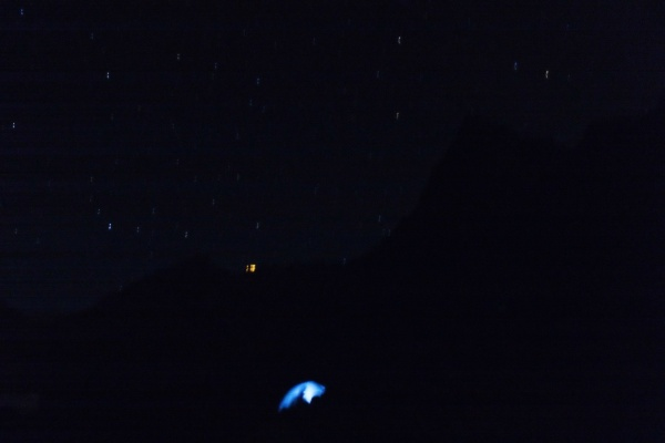 星空のテント泊。