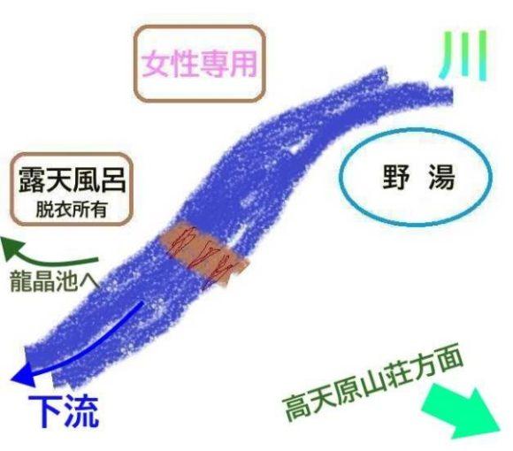 高天原温泉のイラスト地図
