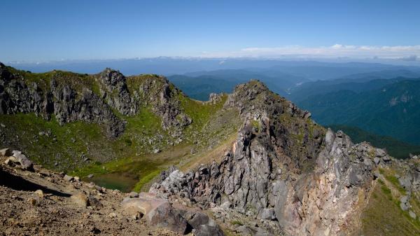 ギザギザの山頂