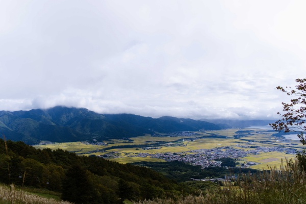 安達太良山方面も曇ってる