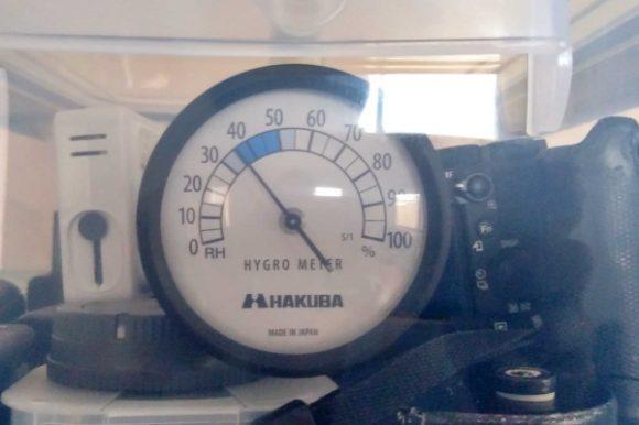 取り出し作業をすると36%に上がった。しっかり湿度が計測できてる模様。