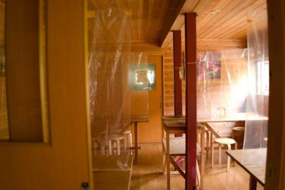 1階の食堂。