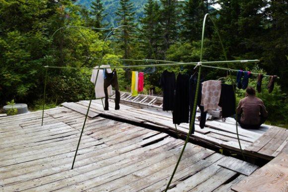 長期縦走では有難い洗濯。