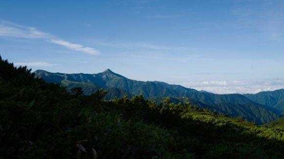 笠ヶ岳も見えてます。