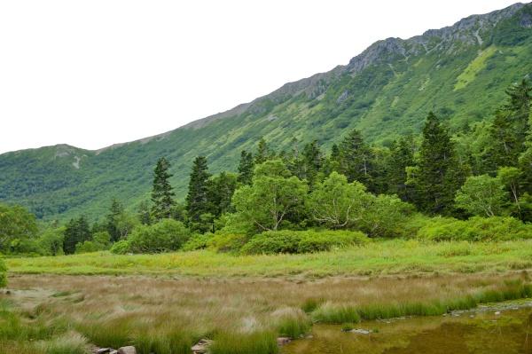 明日はこの稜線を渡るのかぁ。