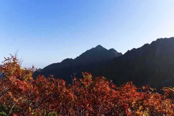 黄葉と剱岳が良いなぁ。